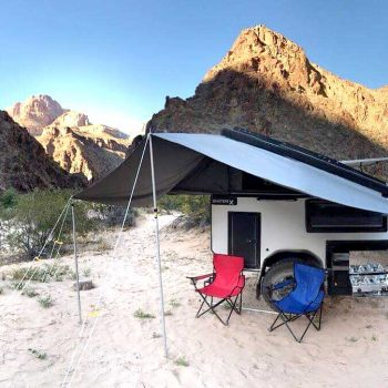 offroad rv overland campers sniperx awning sand