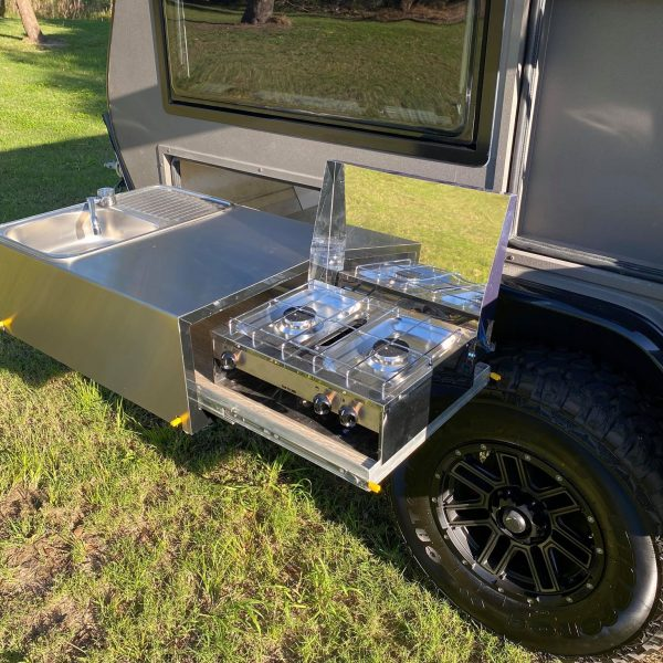 sniper x rv camper external slide out kitchen