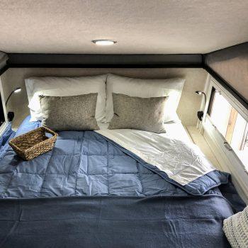 sniper x rv interior photo bed down