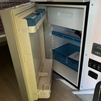 sniper x rv interior photo fridge open