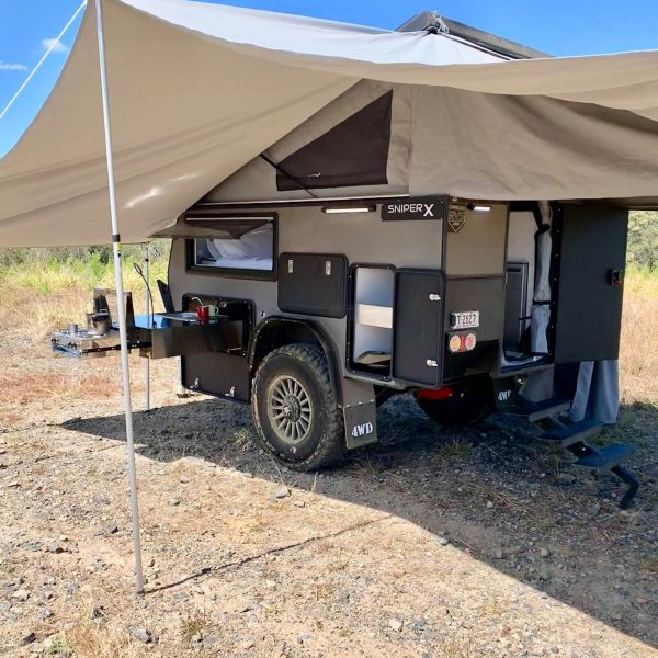 sniper x rv camper exterior side kitchen awning